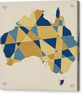 Australia Geometric Retro Map Acrylic Print