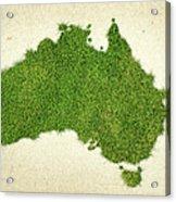 Australia Grass Map Acrylic Print