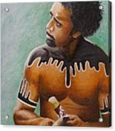 Australian Aboriginal Acrylic Print by David Hawkes