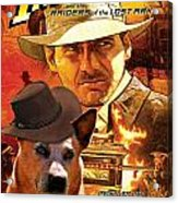 Australian Cattle Dog Art Canvas Print - Indiana Jones Movie Poster Acrylic Print