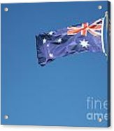 Australian Flag Outdoors Acrylic Print