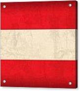 Austria Flag Vintage Distressed Finish Acrylic Print