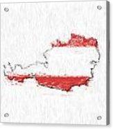 Austria Painted Flag Map Acrylic Print