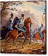 Austrian Hussars In Pursuit Acrylic Print