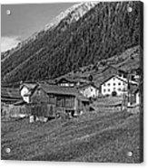 Austrian Village Monochrome Acrylic Print