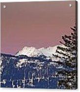 Austrian Winter Scenic Panorama Acrylic Print
