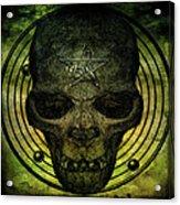 Authentic Skull Of The Vampire Callicantzaros Acrylic Print