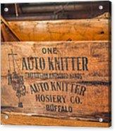 Auto Knitter Box Acrylic Print