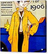 Automobile Calendar Advertisement 1906 Acrylic Print