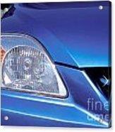 Automobile Head Light Blue Car Acrylic Print
