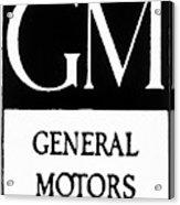 Automobiles Gm Logo Acrylic Print