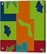 Autumn Abstract A La Matisse Acrylic Print