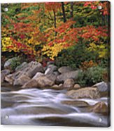Autumn Along Swift River  Acrylic Print