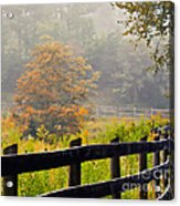 Autumn Along The Fence Acrylic Print