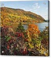 Autumn Along The Hudson Acrylic Print