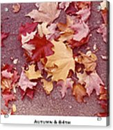 Autumn And Eighty Fourth Acrylic Print