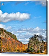 Autumn At Bald Mountain Pond Acrylic Print