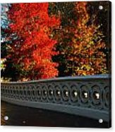 Autumn At Bow Bridge Acrylic Print