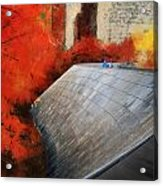 Autumn At Chicago Millennium Park Bp Bridge Mixed Media 03 Acrylic Print