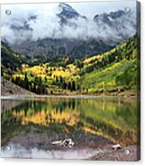 Autumn At Maroon Bells In Colorado Acrylic Print