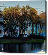 Autumn At Old Key West Resort Panorama Walt Disney World Acrylic Print