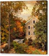 Autumn At Stone Mill Acrylic Print