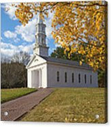 Autumn At The Chapel Acrylic Print by Gordon  Grimwade