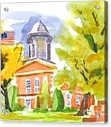 Autumn At The Courthouse Acrylic Print