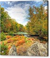 Autumn At The Creek - Green Lane - Pennsylvania - Usa Acrylic Print