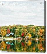 Autumn At The Lake - Pocono Mountains Acrylic Print by Vivienne Gucwa