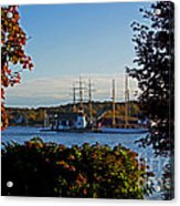 Autumn At The Seaport Acrylic Print