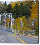 Autumn At Washington's Crossing Bridge Acrylic Print