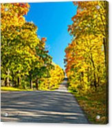 Autumn Back Road Acrylic Print