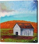 Autumn Barn In Color Acrylic Print