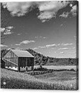 Autumn Barn Monochrome Acrylic Print