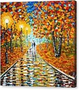 Autumn Beauty Original Palette Knife Painting Acrylic Print