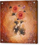 Autumn Blooming Mum Acrylic Print by Bedros Awak
