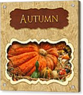 Autumn Button Acrylic Print by Mike Savad