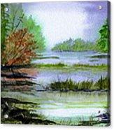 Autumn By The Lake  Acrylic Print