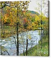 Autumn By The River Acrylic Print