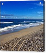 Autumn Carolina Beach Acrylic Print by Joan Meyland