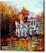 Autumn Carriage Acrylic Print