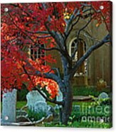 Autumn Charleston Churchyard Acrylic Print