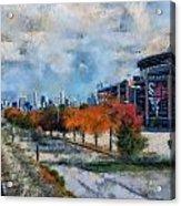 Autumn Chicago White Sox Us Cellular Field Mixed Media 03 Acrylic Print