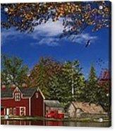 Autumn Church Row Acrylic Print