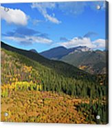 Autumn Color In Colorado Rockies Acrylic Print