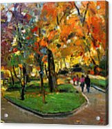 Autumn Colors - Lugano Acrylic Print