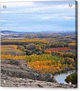 Autumn Colors On The Ebro River Acrylic Print
