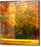 Autumn Colors Painterly Acrylic Print by Lutz Baar