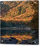 Autumn Colors Reflected In Stream Acrylic Print